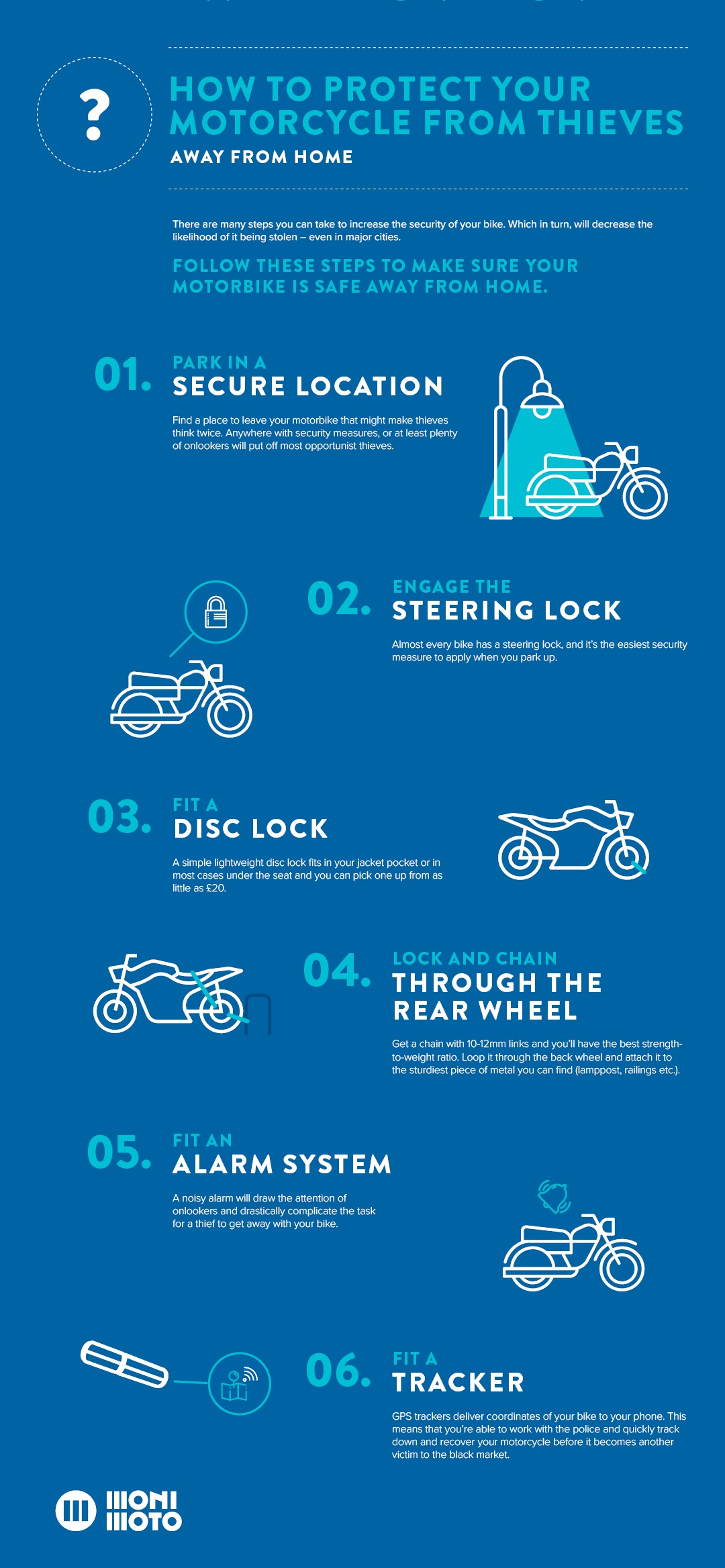 6 security tips that will help you protect you motorcycle from thieves