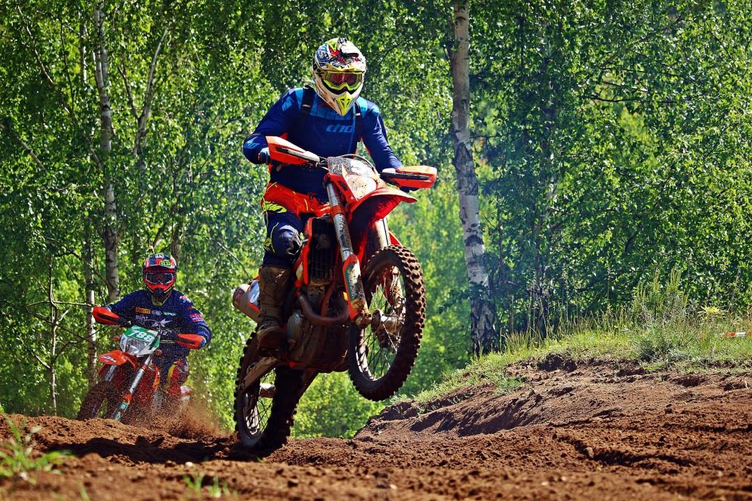 Dirt bike on the track