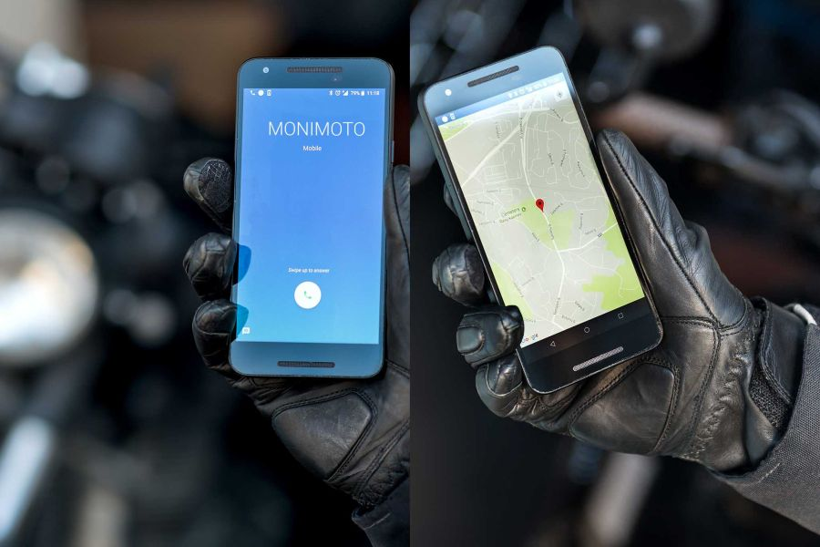 Monimoto calls and sends GPS coordinates