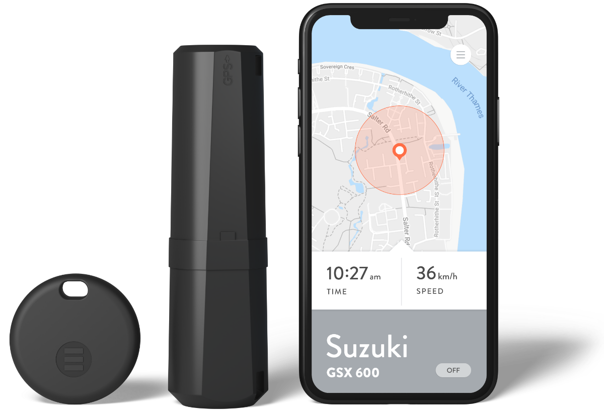 Monimoto tracker, key fob and mobile app