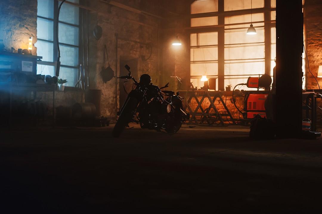 Motorcycle maintenance garage