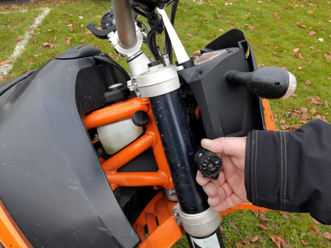 Motorcycle thief broke KTM ignition switch