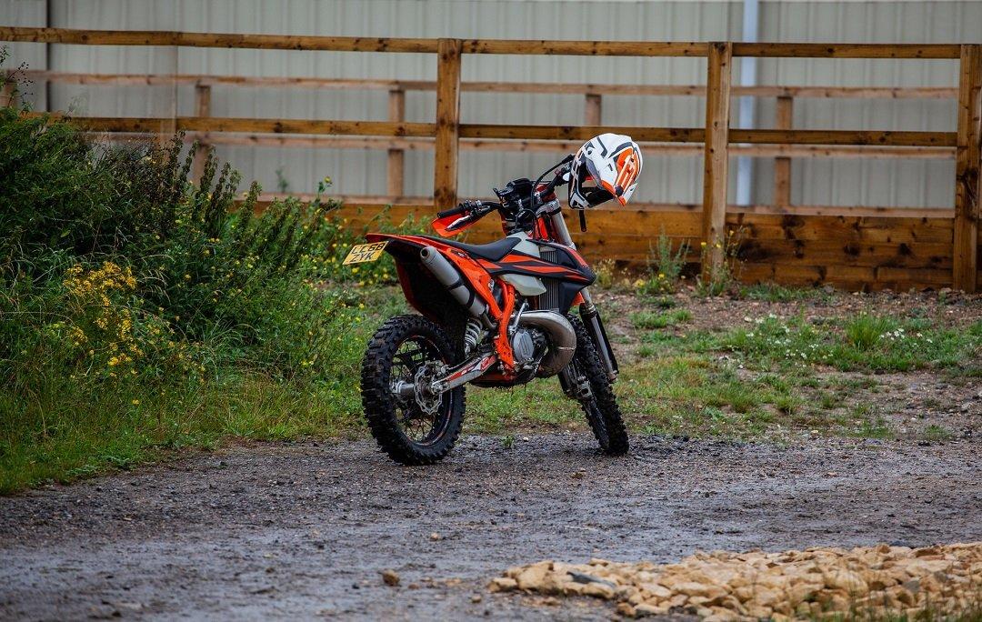 Orange Enduro motorcycle