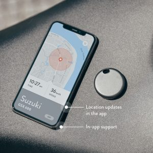 Phone screen with Monimoto app