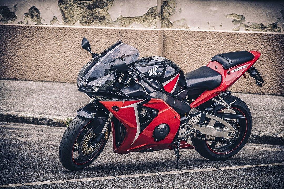 Red Honda CBR sports bike