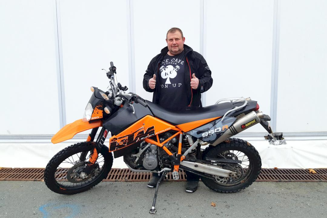 Stolen KTM 900 recovered with Monimoto motorcycle tracker